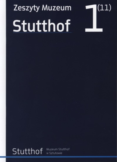 okładka Zeszyty Muzeum Stutthof Nr 1 (11)