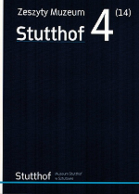 okładka Zeszyty Muzeum Stutthof Nr 4 (14)